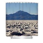 Salt Flat Surface Shower Curtain