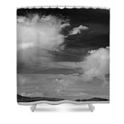 Salt Flats Clouds Shower Curtain
