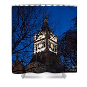 Salt Lake City And County Building At Night Shower Curtain