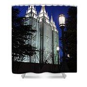 Salt Lake Mormon Temple At Night Shower Curtain