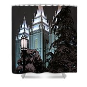 Salt Lake Temple In The Snow Shower Curtain