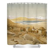 Salt Lake - Thibet, From India Ancient Shower Curtain