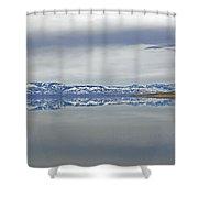 Salt Lake Winter Shower Curtain