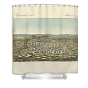 Salt Lakes And Salt Grounds Shower Curtain
