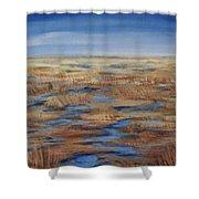 Salt Marsh In Summer Shower Curtain
