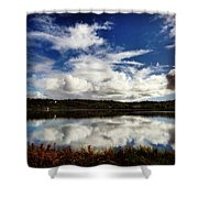 Salt Pond Mirror  Shower Curtain