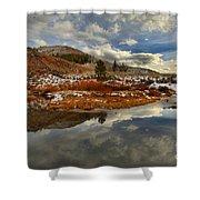 Salt River Landscape Shower Curtain