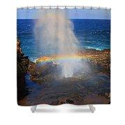 Salt Spray Rainbow Shower Curtain