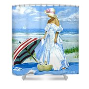 Salt Water Blues Shower Curtain