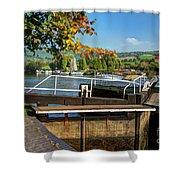 Saltford Locks  Shower Curtain