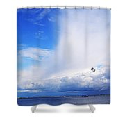 Salthill Air Show Shower Curtain