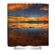 Salton Sea Color Shower Curtain