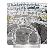 Saltwater- Abstract Painting Shower Curtain by Linda Woods