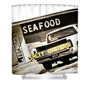 Salty Oysters - Textured Shower Curtain