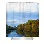 Saluda River In The Fall Shower Curtain