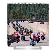 Salute To Veterans Rally Shower Curtain