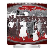 Saluting With Sabers Military Ceremony Unknown Location Or Date-2014 Shower Curtain