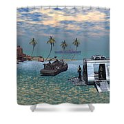 Salvage Operation Shower Curtain