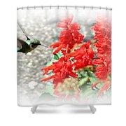 Salvia Approach Shower Curtain