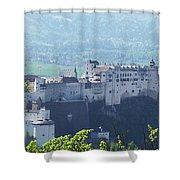 Salzburg Fortress Panorama Shower Curtain