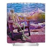 A-loon On The Beach  Shower Curtain