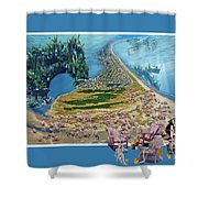 Sam And Topsail's Ghost Pirates  Shower Curtain