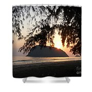 Sam Roi Yod At Dawn Shower Curtain