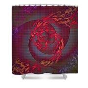 Samba Dancer Abstract Digital Painting Shower Curtain