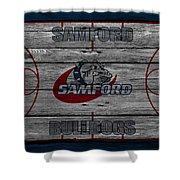 Samford Bulldogs Shower Curtain