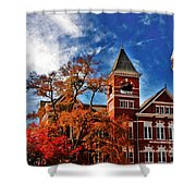 Samford Hall In The Fall Shower Curtain by Victoria Lawrence