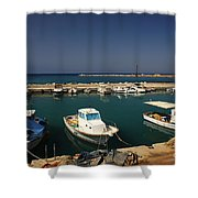 Sami Harbour Kefalonia Shower Curtain