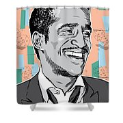 Sammy Davis Jr Pop Art Shower Curtain