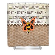Sammy The Honey Bee Shower Curtain