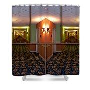 Sample Paneled Hallway Mirrored Image Shower Curtain