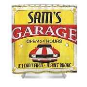 Sam's Garage Shower Curtain