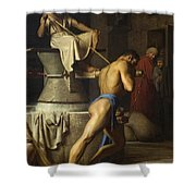 Samson And The Philistines Shower Curtain