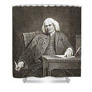 Samuel Johnson, English Author Shower Curtain