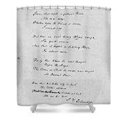 Samuel Taylor Coleridge (1772-1834) Shower Curtain