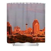 San Antonio - Skyline At Last Light Shower Curtain