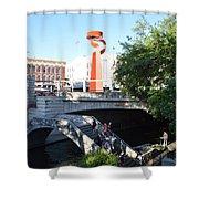 San Antonio River 01 Shower Curtain