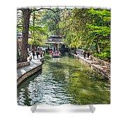 San Antonio River Walk In Spring Shower Curtain