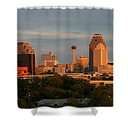 San Antonio - Skyline At Sunset Shower Curtain