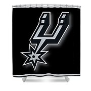 San Antonio Spurs Shower Curtain by Tony Rubino