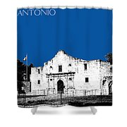 San Antonio The Alamo - Royal Blue Shower Curtain