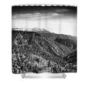 San Bernardino Snow Shower Curtain