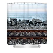 San Clemente Coast Railroad Shower Curtain