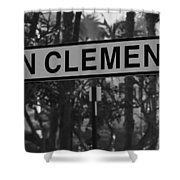 San Clemente Station Sign Shower Curtain