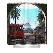 San Diego Transportation Shower Curtain
