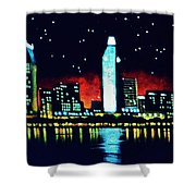 San Diego By Black Light Shower Curtain