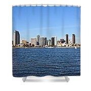 San Diego Ca Harbor Skyline Shower Curtain